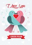 Love bird. Vector Illustration of beautiful birds in love Royalty Free Stock Image