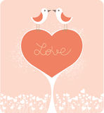 Love Birds. Valentine's day card Stock Photo