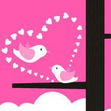 Love of birds Stock Images