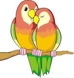 Love Birds. A cartoon illustration of two love birds Stock Photography