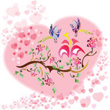 Love birds background Royalty Free Stock Image