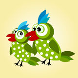 Love birds background Stock Image