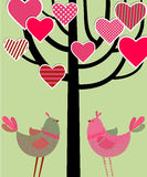 Love birds card Royalty Free Stock Image