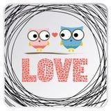 Love birds card1 Stock Photo