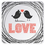 Love birds card2 Royalty Free Stock Images