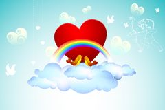 Love Birds on Cloud Stock Photography