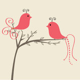 Love  birds couple under tree Stock Photos