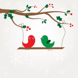 Love  birds couple under tree Royalty Free Stock Photo
