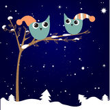 Love  birds couple under tree Royalty Free Stock Photo