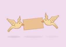 Love Birds Delivering A Message Vector Cartoon Stock Image