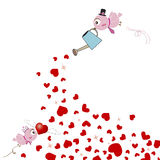 Love birds design Royalty Free Stock Images
