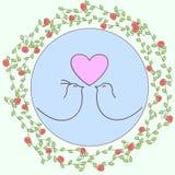 Love birds floral design Royalty Free Stock Photos