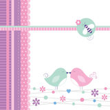Love birds greeting card Royalty Free Stock Photo