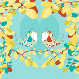 Love Birds Illustration - Vector Image Royalty Free Stock Photography