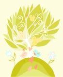 Love birds in pastel tones. Vector illustration Stock Image