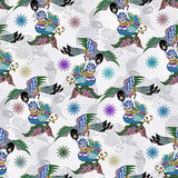 Love birds pattern Royalty Free Stock Photo
