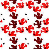 Love Birds Seamless Background Royalty Free Stock Photography