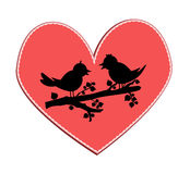 Love birds silhouette Stock Image