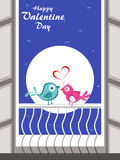 Love birds theme background for valentine day Royalty Free Stock Photo