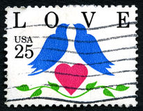 Love Birds US Postage Stamp Royalty Free Stock Images