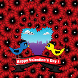Love birds for Valentine's Day Royalty Free Stock Photography