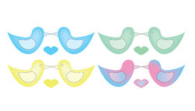 Love birds vector set Stock Photography