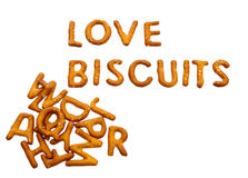 Love biscuits - unhealthy diet concept Stock Image