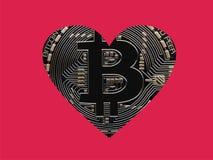 Love Bitcoins Royalty Free Stock Photo