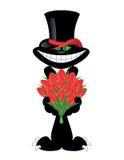 In love black cat Stock Image