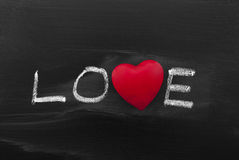 Love on blackboard Royalty Free Stock Photo