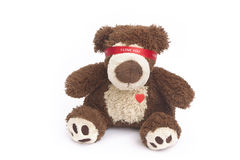 Love is blind. Teddy bear with tape on his eyes Royalty Free Stock Photos