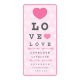 Love Is Blind - Illustration. Love Is Blind - Eye Chart - Illustration Royalty Free Stock Photography