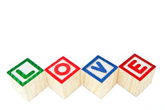 Love by block toy Royalty Free Stock Photo