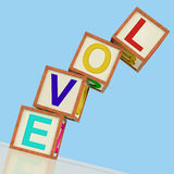 Love Blocks Show Friendship Romance Or Marriage Stock Photos