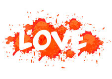 Love in blood. Illustration. red Royalty Free Stock Photography