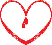 Love blood drop Stock Image