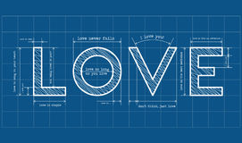 Love blueprint Royalty Free Stock Photography