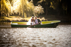 Love in boat Royalty Free Stock Image