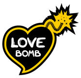 Love bomb. Creative design of love bomb royalty free illustration