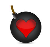 Love bomb with a fuse Royalty Free Stock Photography