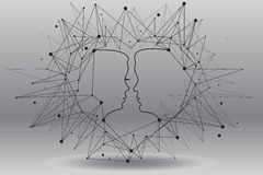 Love. Bond and love between man and woman Royalty Free Stock Image