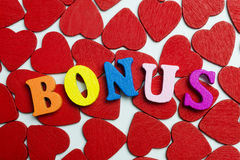 Love the bonus. On the little hearts are the letters Royalty Free Stock Photography