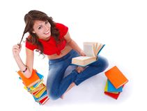 Love for the books Royalty Free Stock Images