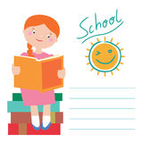 In love with books Back to school card design Royalty Free Stock Image