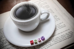 Love Books and Coffee Stock Photography
