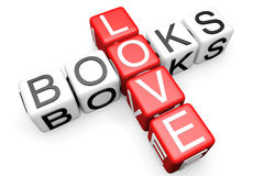 Love Books Crossword Royalty Free Stock Images