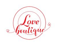 Love boutique vector banner stock illustration