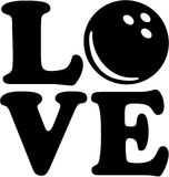 Love with bowling ball Stock Photography