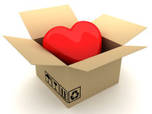 Love box. This is a 3D rendered picture Royalty Free Stock Photography