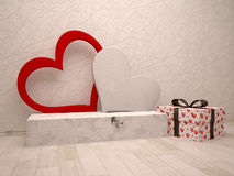 Love box and gift box Stock Photography